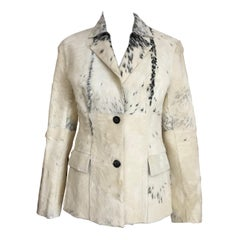 Gucci by Tom Ford Creme Pony Hair Jacket