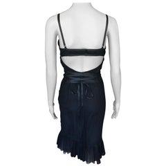 Gucci by Tom Ford F/W 2001 Cutout Back Mesh Black Dress