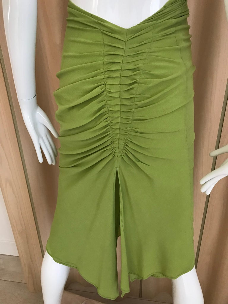Gucci by Tom Ford Green Silk Cocktail Dress For Sale 6