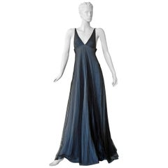 Gucci by Tom Ford Iconic 1998 Plunging Neckline Empire Style Dress Gown