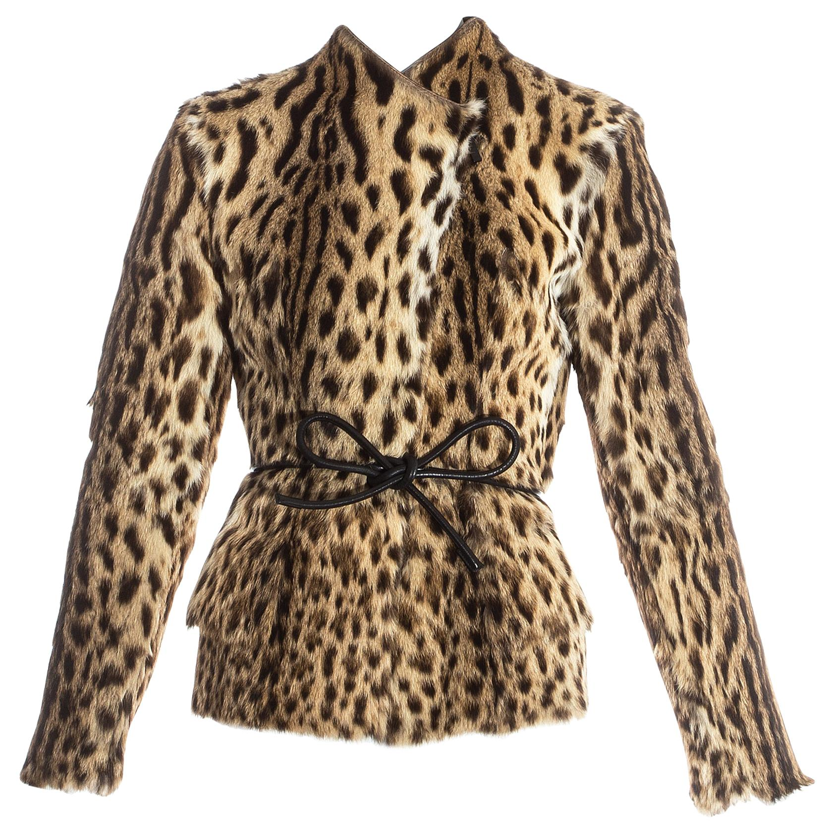 243cc41fc95 Gucci by Tom Ford Gold Metallic Leather Jacket Blazer For Sale at 1stdibs