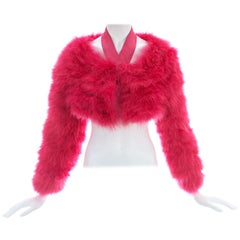 Gucci by Tom Ford pink marabou bolero jacket, S/S 2004