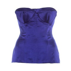 Gucci by Tom Ford purple silk cone bra corset bustier, ss 2001