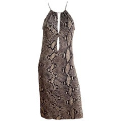 Gucci by Tom Ford S/S 2000 Runway Silk Python Dress