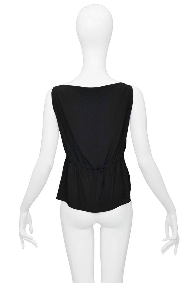 Gucci by Tom Ford Sexy Black Exposed Sides Top with Leather Bands 1999 For Sale 1
