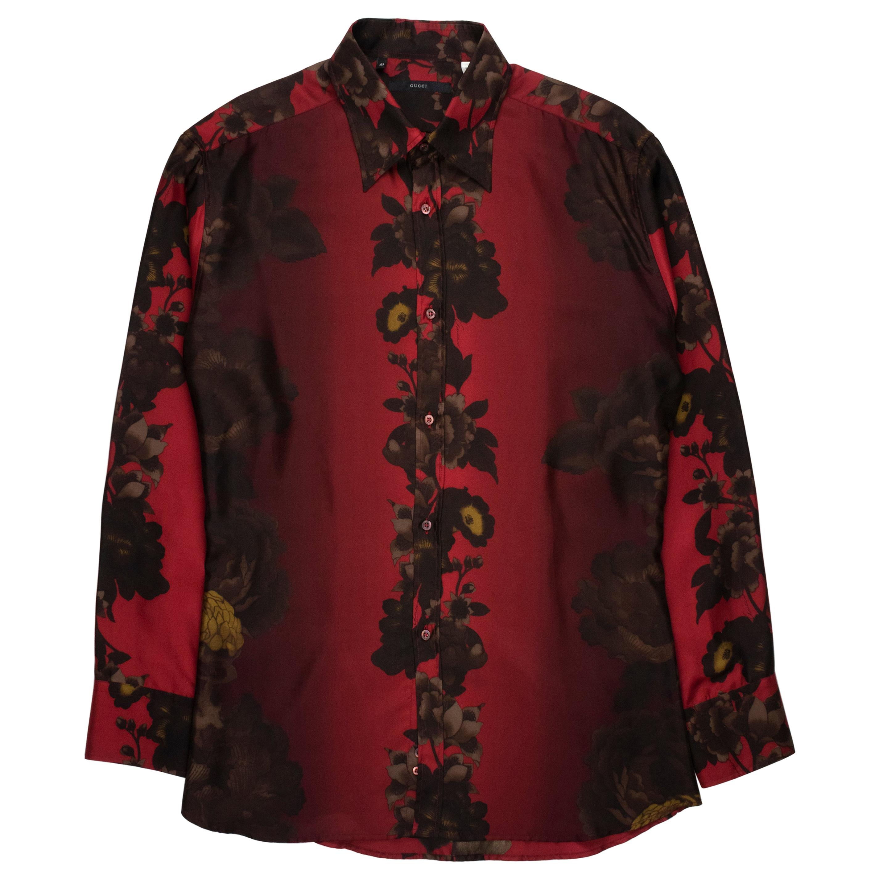 Gucci by Tom Ford SS2001 Silk Floral Shirt