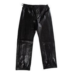 Gucci by Tom Ford unisex black lizard skin drawstring wide leg pants, ss 2001