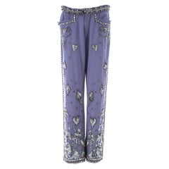 Gucci by Tom Ford violet cotton embellished evening pants, ss 1999