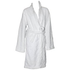 Gucci by Tom Ford White GG Logo Terrycloth Terry Bathrobe Coat