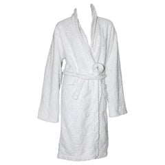 Gucci by Tom Ford White GG Logo Terrycloth Terry Towel Bathrobe Coat