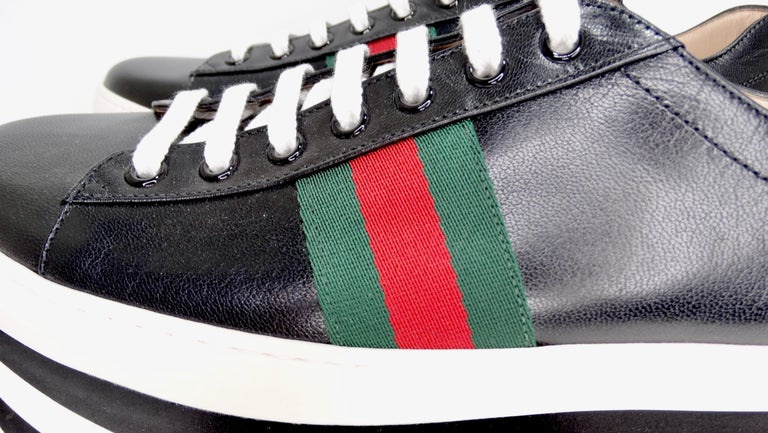 Gucci Calf Leather Wedge Sneakers For Sale 2