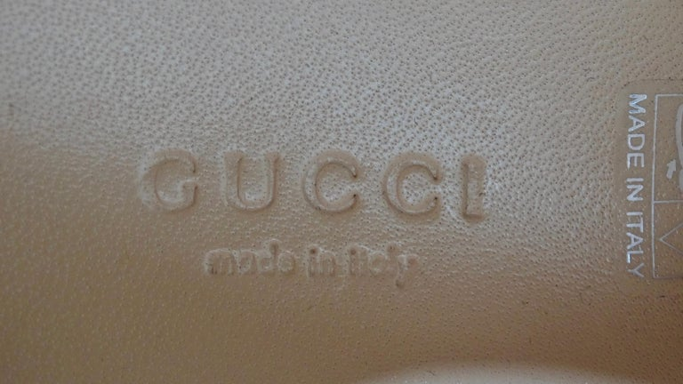 Gucci Calf Leather Wedge Sneakers For Sale 4