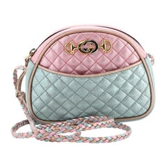 Gucci Camera Shoulder Bag Quilted Laminated Leather Mini