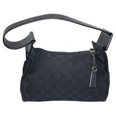 Gucci Canvas Thick Strap Shoulder Bag
