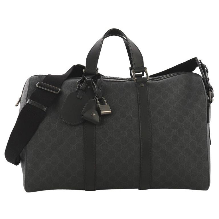 fa221b1fb1b8 Gucci Carry On Convertible Duffle Bag GG Coated Canvas Small For Sale at  1stdibs