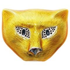 Gucci Cat Face Brooch
