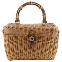 Gucci Cestino Basket Bag Wicker
