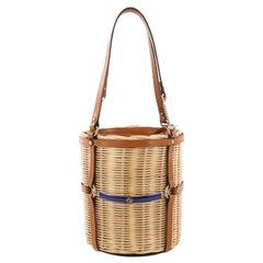 Gucci Cestino Bucket Bag Wicker Small