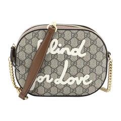 Gucci Chain Crossbody Bag Embroidered GG Coated Canvas Mini