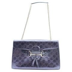 Gucci Chain Emily Guccissima 3gr0301 Purple Patent Leather Shoulder Bag