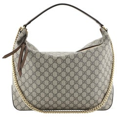 Gucci Chain Hobo GG Coated Canvas Large