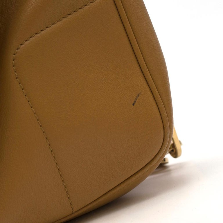 Brown Gucci Chain Link Tan Leather Shoulder Bag For Sale