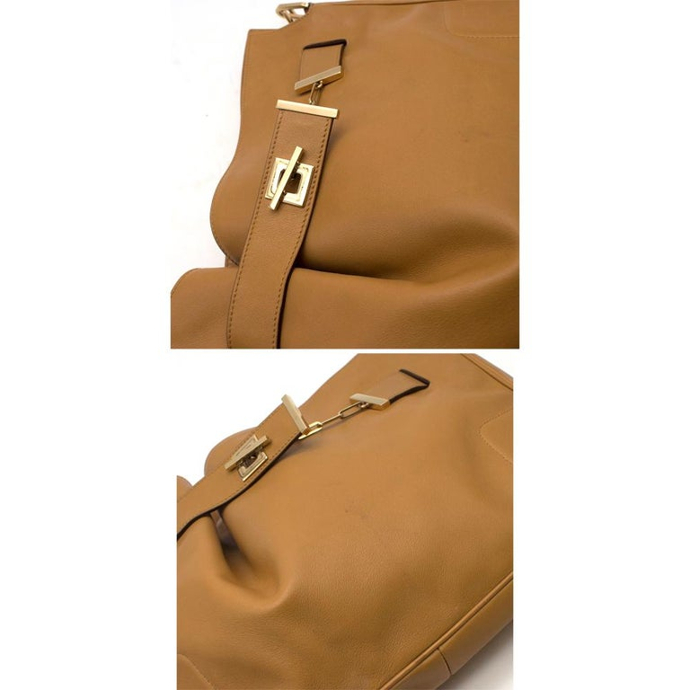 Gucci Chain Link Tan Leather Shoulder Bag For Sale 2
