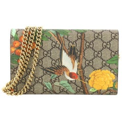 3441bd1c39d1 Gucci Chain Wallet Tian Print GG Coated Canvas