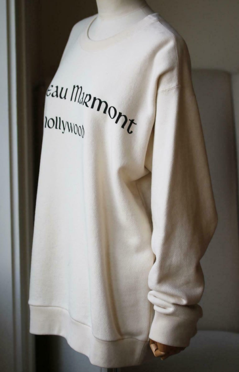 White Gucci Chateau Marmont Printed Cotton-Jersey Sweatshirt  For Sale