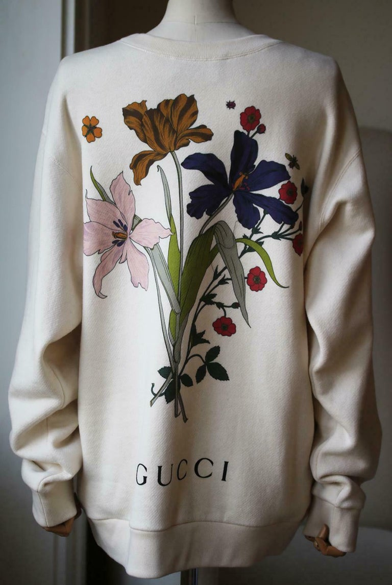 Gucci Chateau Marmont Printed Cotton-Jersey Sweatshirt  In Excellent Condition For Sale In London, GB