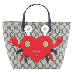 Gucci Children's Animal Tote GG Coated Canvas with Applique Small