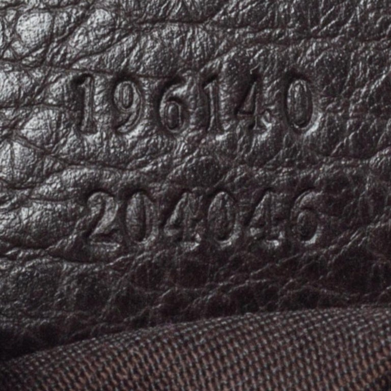 Gucci Chocolate Brown GG Canvas and Leather Vintage Hobo For Sale 2