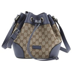 Gucci Classic Bucket Bag GG Canvas Small