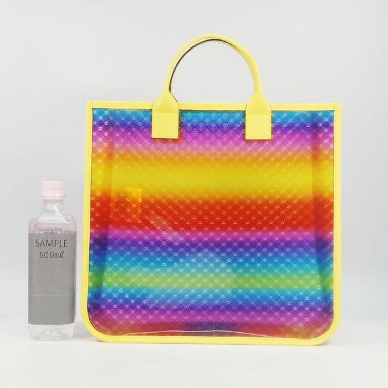 GUCCI clear tote GG Rainbow Womens tote bag 550763 yellow x Rainbow For Sale 6