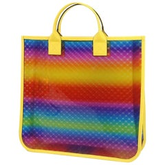 GUCCI clear tote GG Rainbow Womens tote bag 550763 yellow x Rainbow