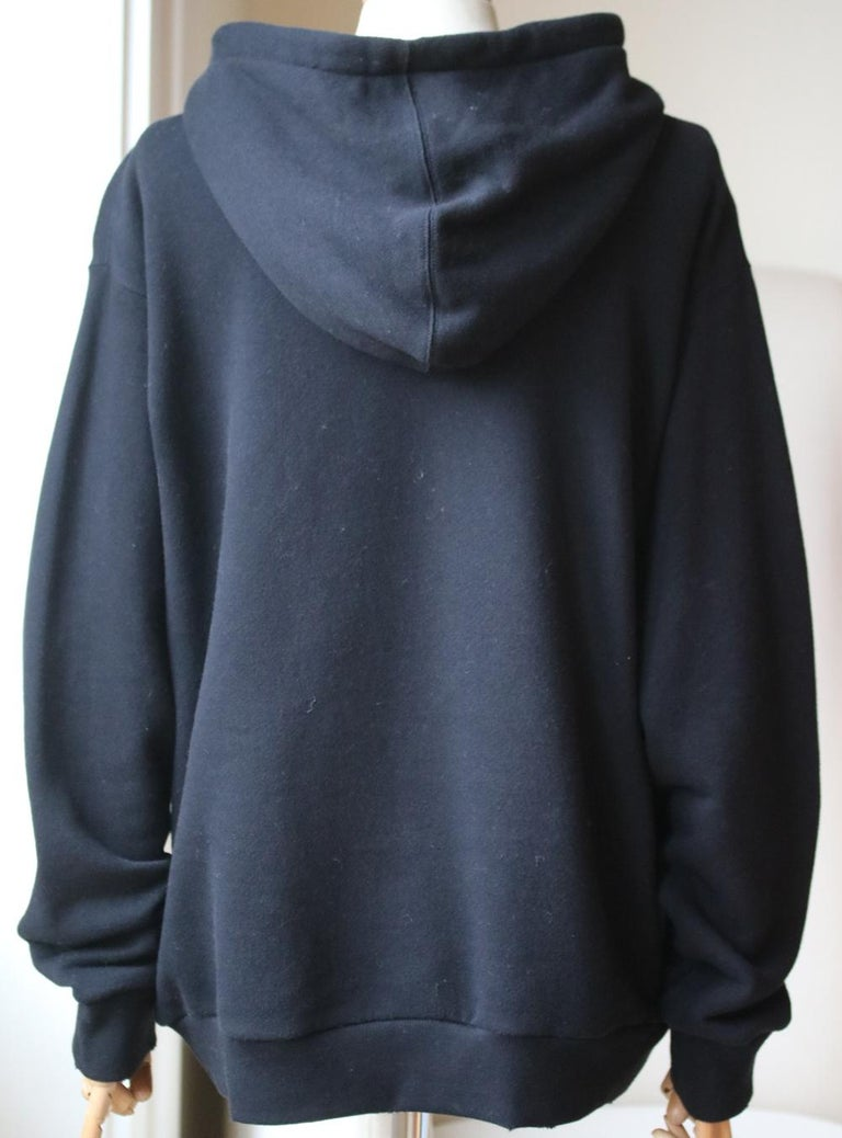 Black Gucci Coco Captain Sequin-Embellished Cotton Hooded Sweater  For Sale