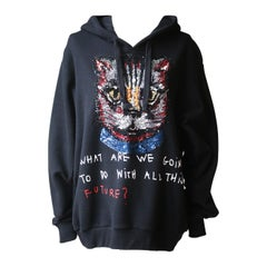 Gucci Coco Captain Sequin-Embellished Cotton Hooded Sweater