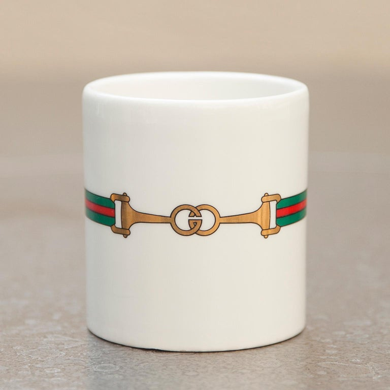 Drink your coffee on an elegant way, with this very rare Gucci coffee pot from the 1970s.