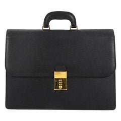 Gucci Combination Lock Briefcase Leather Large