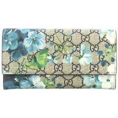 Gucci Continental Wallet Blooms Print GG Coated Canvas