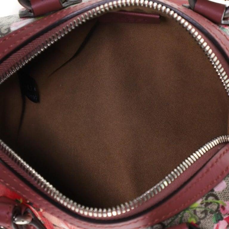Gucci Convertible Boston Bag Blooms Print GG Coated Canvas Nano For Sale 1