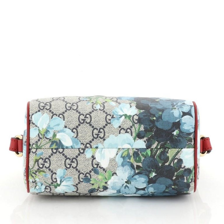 Women's or Men's Gucci Convertible Boston Bag Blooms Print GG Coated Canvas Nano For Sale