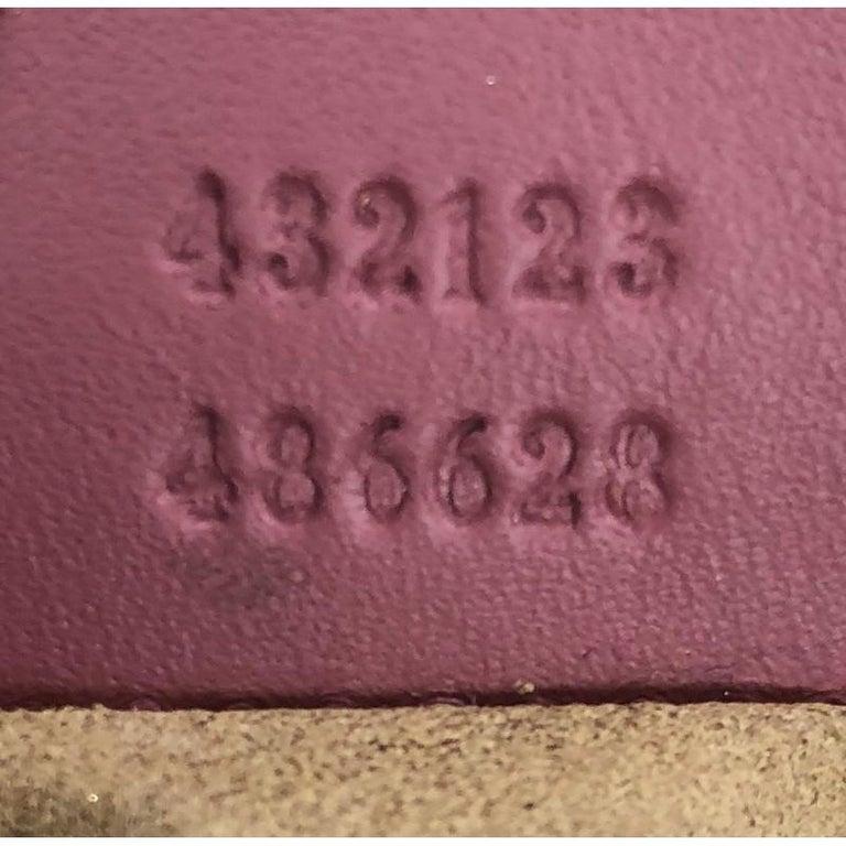 Gucci Convertible Boston Bag Blooms Print GG Coated Canvas Nano For Sale 2