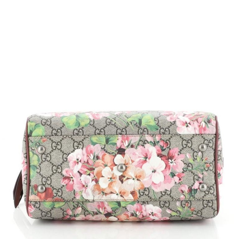 Women's or Men's Gucci Convertible Boston Bag Blooms Print GG Coated Canvas Small For Sale