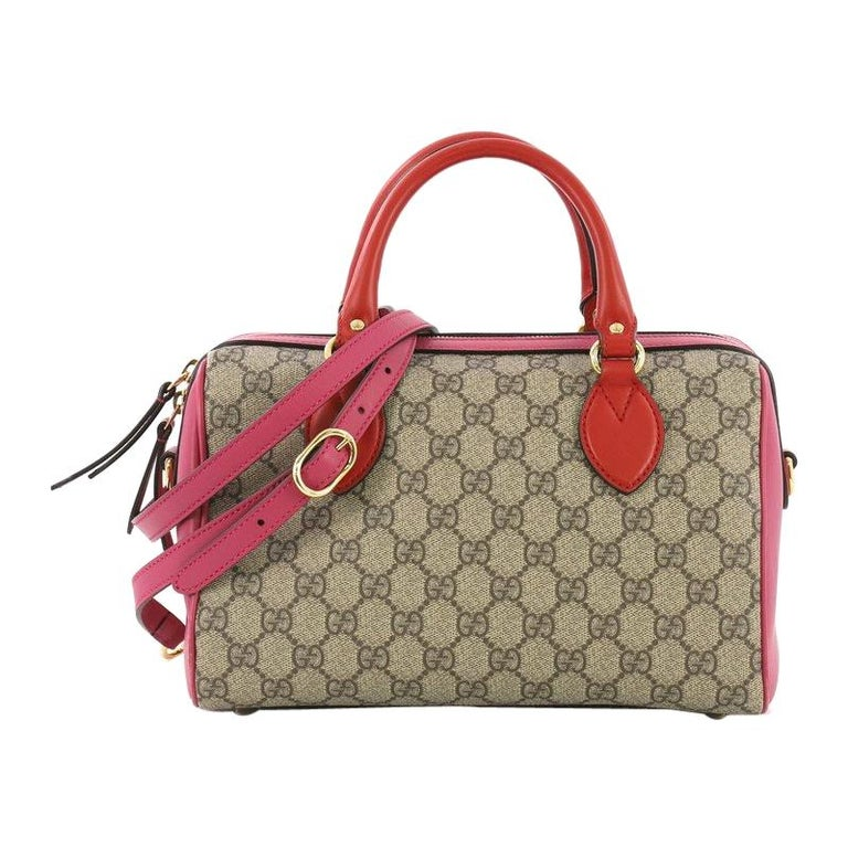 b28b5a998a9d9c Gucci Convertible Boston Bag GG Coated Canvas and Leather Small For Sale