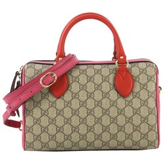 Gucci Convertible Boston Bag GG Coated Canvas and Leather Small