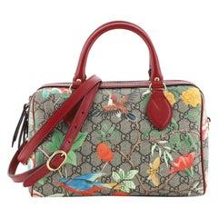 Gucci Convertible Boston Bag Tian Print GG Coated Canvas Small