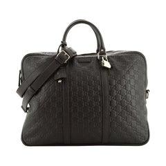 Gucci Convertible Briefcase Guccissima Leather Large