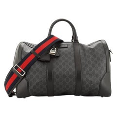 Gucci Convertible Duffle Bag GG Coated Canvas Large