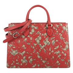Gucci Convertible Gusset Tote Arabesque GG Coated Canvas Large,